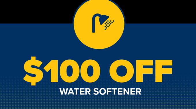 $100 Off Water Softener