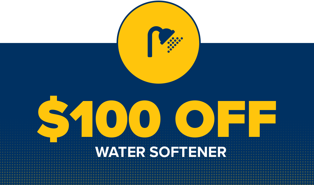$100 off water softener