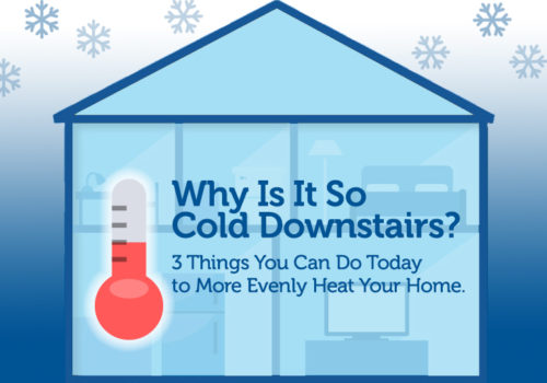 Why Is It So Cold Downstairs? 3 Things You Can Do Today To More Evenly Heat Your Home