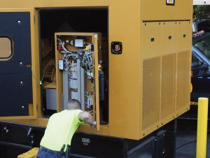 Commercial Generator being serviced