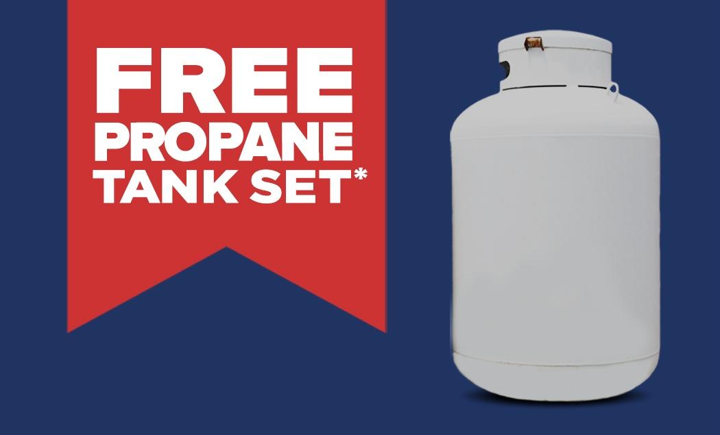 Free Propane Tank Set