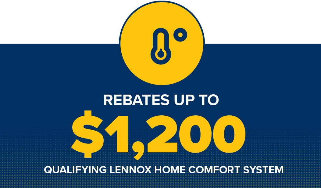 Lennox Home Comfort System Rebates up to $1,200