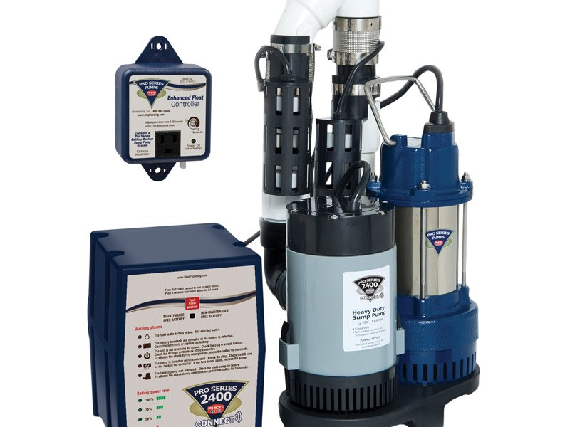 High Capacity Sump Pump with Battery Backup