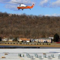 Proctor And Gamble Warehouse Helicopter Lift