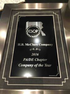 HB McClure Wins ESOP f the Year Award 2016
