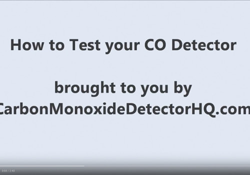How To Test Your CO Detector