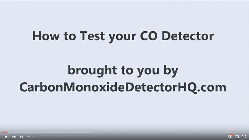 How To Test Your Carbon Monoxide Detector