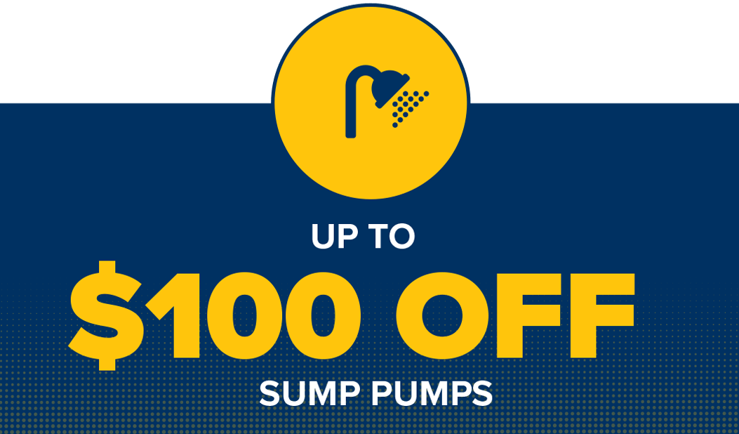 Save up to $100 on a sump pump with HB Home Service Team